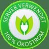 Server verwendet 100% Ökostom